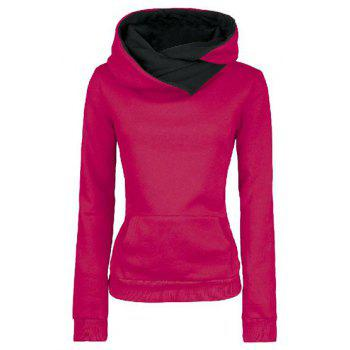Casual Style Loose-Fitting Solid Color Long Sleeve Hoodie For Women