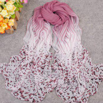 Ethnic Style Gradient Color Scarf For Women