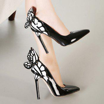 Party Butterfly and High Heel Design Pumps For Women - 40 40