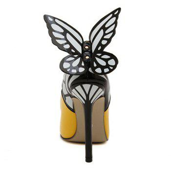 Party Butterfly and High Heel Design Pumps For Women - 36 36