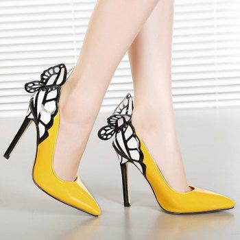 Party Butterfly and High Heel Design Pumps For Women - 38 38