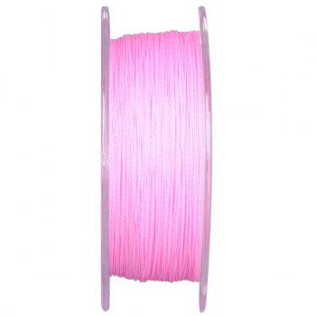 Durable NO.0.8 125m PE Braided Fishing Line 0.148mm Diameter Excellent 5.5kg Breaking Strength - PINK
