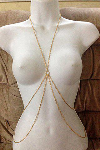Characteristic Layered Decussation Design Body Chain For Women