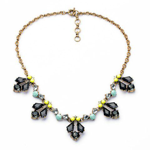 Faux Gemstone Beads Embellished Necklace - AS THE PICTURE