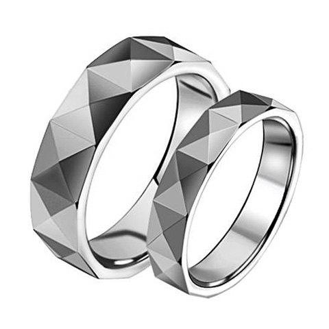 ONE PIECE Stylish Fashion Section Silver Lover Couple Ring - FEMALE ONE SIZE
