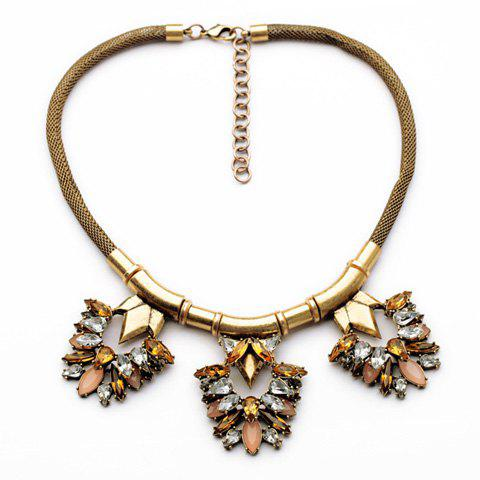 Punk Style Gemstone Embellished Special Shape Women's Necklace
