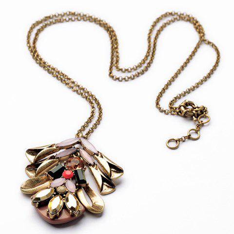 Chic Gemstone Embellished Special Shape Necklace For Women - AS THE PICTURE