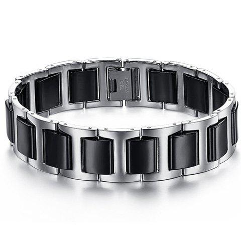 Chic Black Link Bracelet For Men - AS THE PICTURE