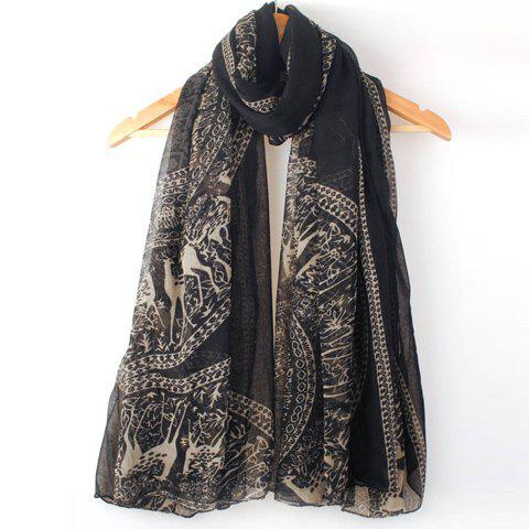 Ethnic Style Deer Pattern Scarf For Women