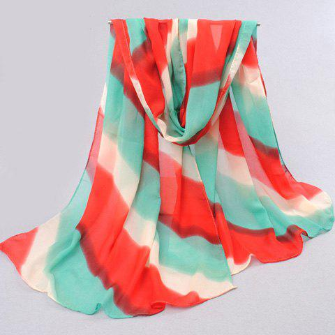 Stylish Chiffon Mixed Print Scarf For Women - COLOR ASSORTED