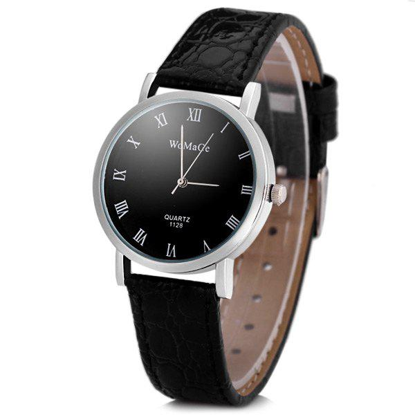 Womage 1128 Fashionable Quartz Watch Round Dial Leather Watchband for Women от Dresslily.com INT