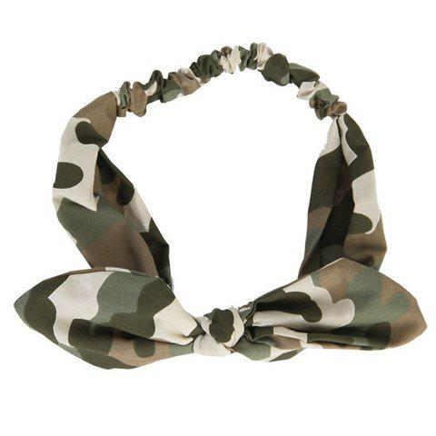 Stylish Camouflage Color Bowknot Shape Women's Headband - CAMOUFLAGE