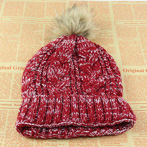Hot Sale Colorful Knitted Braid Pattern Hat For Women - COLOR ASSORTED