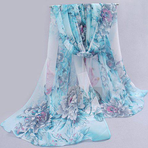 Charming Flower Pattern Anti-UV Scarf For Women