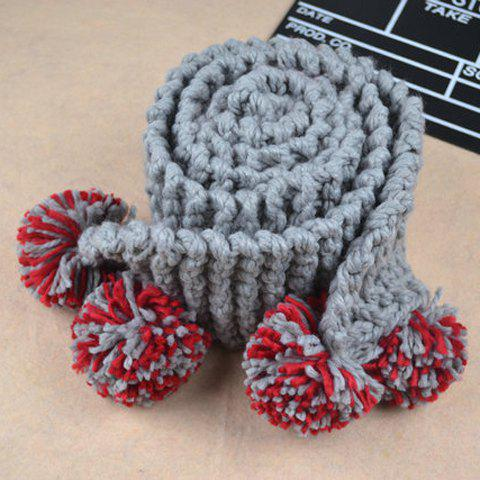 Sweet Cute Women's Ball Woolen Scarf - AS THE PICTURE