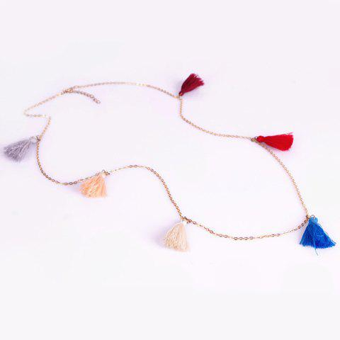 Chic Colorful Tassel Embellished Women's Belly Chain - GOLDEN