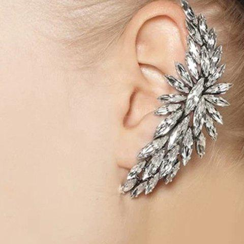 ONE PIECE Chic Crystal Embellished Clip Earrings For Women - AS THE PICTURE