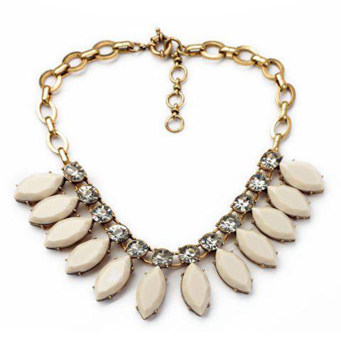 Cute Solid Color Gemstone Embellished Women's Necklace