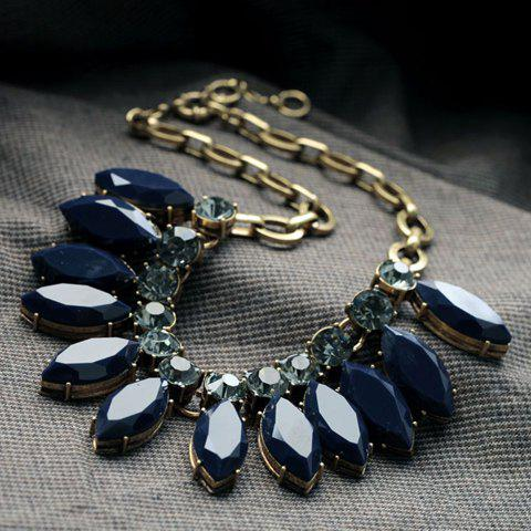 Cute Solid Color Gemstone Embellished Necklace For Women delicate women s candy color gemstone embellished necklace