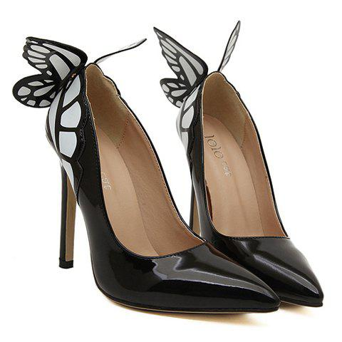 Party Butterfly and High Heel Design Pumps For Women - BLACK 35