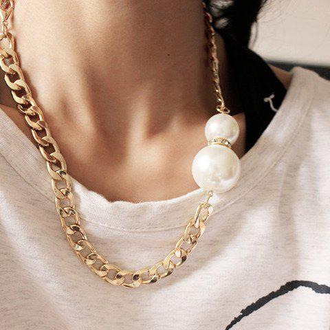 Delicate Women's Faux Pearl Embellished Necklace - AS THE PICTURE