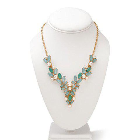 Gorgeous Women's Gemstone Embellished Necklace - AS THE PICTURE