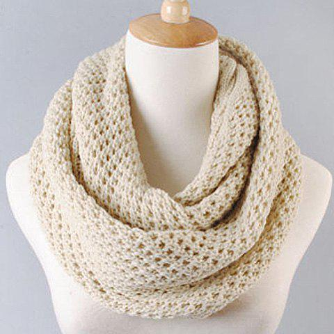 Hot Sale Pure Color Openwork Knitted Scarf For Women - COLOR ASSORTED