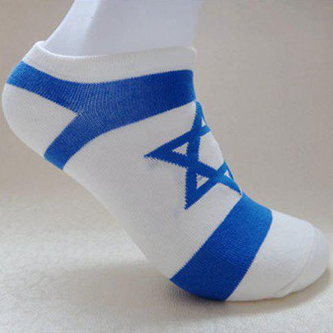 Pair of Fashion Star Flag Pattern Socks For Men