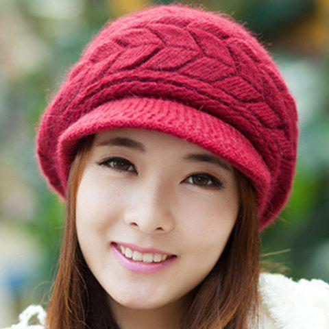 Stylish Chic Women's Pattern Solid Color Knitting Beret Hat - COLOR ASSORTED