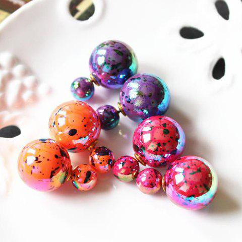Pair of Chic Ball Shape Earrings For Women - COLOR ASSORTED