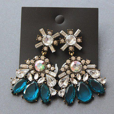 Pair of Chic Faux Gemstone Embellished Earrings For Women