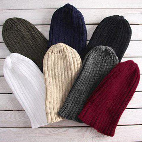 ONE PIECE Stylish Chic Solid Color Knitting Hat For Men - COLOR ASSORTED