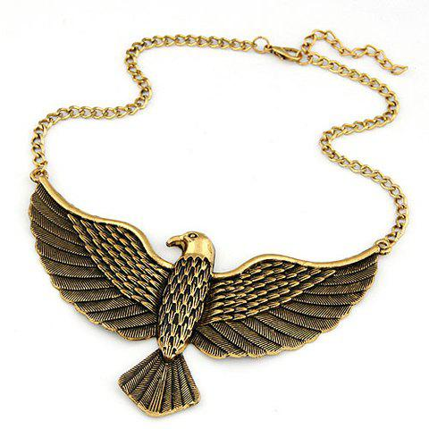 Stylish Women's Solid Color Eagle Shape Pendant Neckalce - GOLDEN