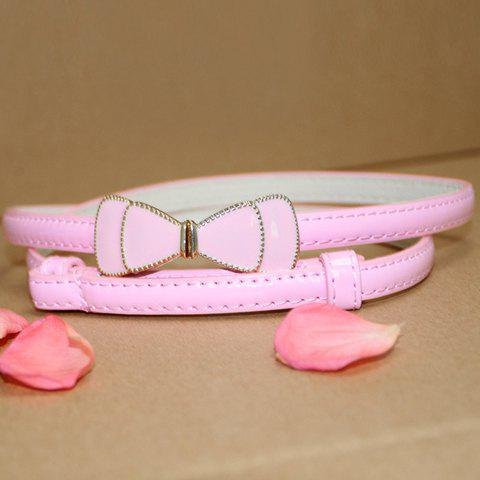 Sweet Bowknot Solid Color Slender Belt For Women - COLOR ASSORTED