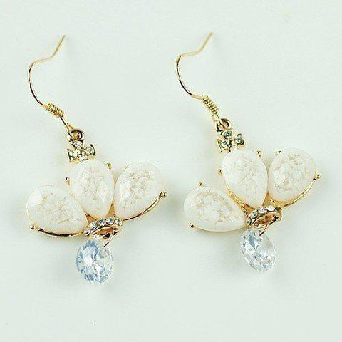 Pair of Chic Women's Faux Gemstone Embellished Earrings