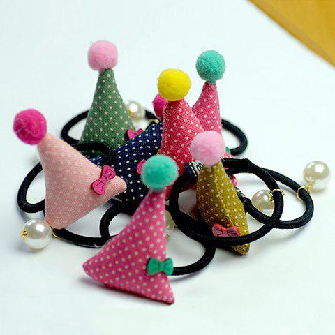 ONE PIECE Sweet Women's Dot Pattern Pearl Bowknot Decorated Elastic Hair Band - COLOR ASSORTED
