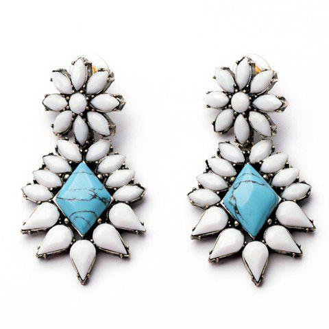 Pair of Chic Women's Colorful Faux Pearl Embellished Earrings