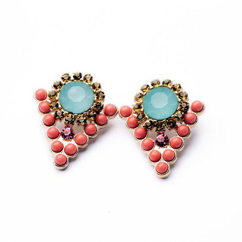 Pair of Trendy Triangle Shape Earrings For Women - AS THE PICTURE