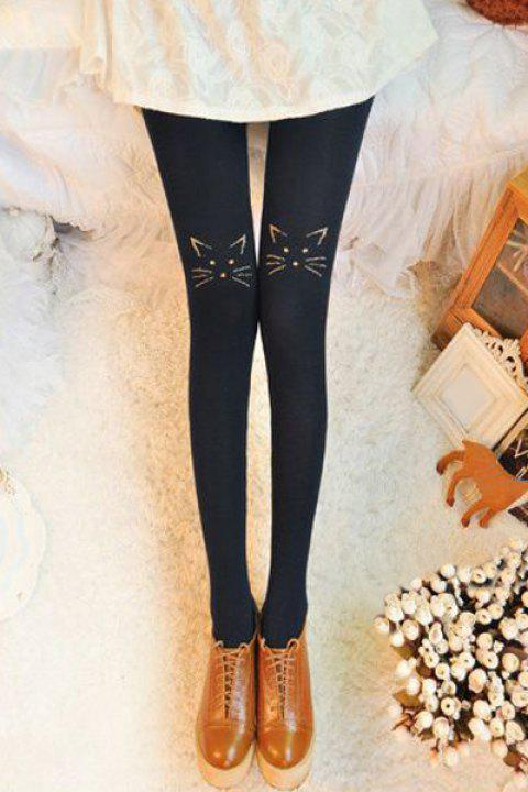 Stylish Stretchy Embroidered Leggings For Women - CADETBLUE ONE SIZE(FIT SIZE XS TO M)