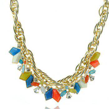 Bohemian Style Colorful Pendant Embellished Women's Necklace - COLORFUL