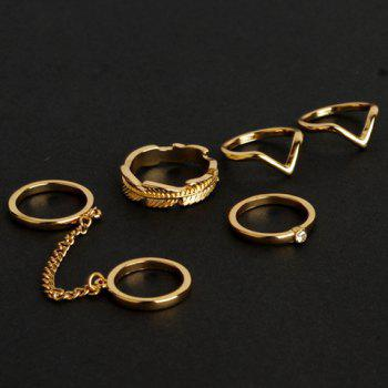 5 Pieces Alloy Rings