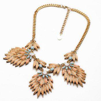 Stylish Flower Shape Pendant Embellished Women's Necklace - AS THE PICTURE