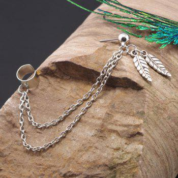 Leaf Chain Embellished Earring (ONE PIECE)