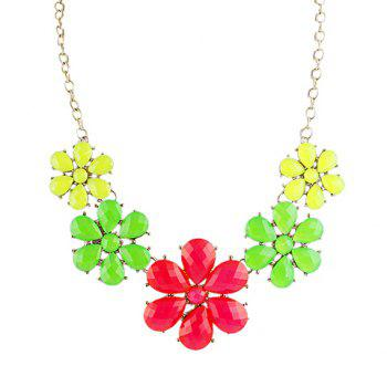 Unique Colorful Flowers Splicing Pendant Necklace For Women