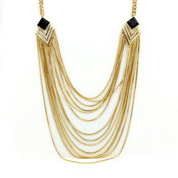 Chic Solid Color Tassel Embellished Women's Sweater Chain Necklace -  GOLDEN