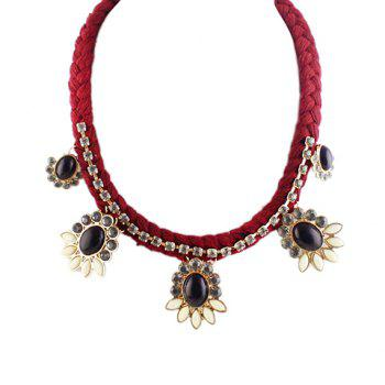 Ethnic Style Faux Gemstone Embellished Pendant Women's Necklace