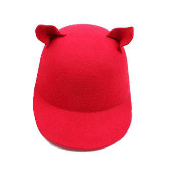 Stylish Chic Women's Solid Color Cat Ear Hat