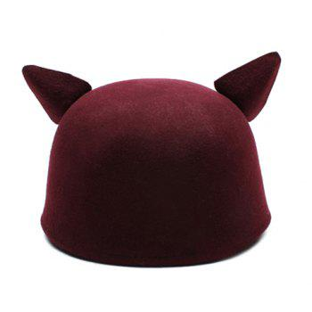 Stylish Chic Women's Solid Color Cat Ear Hat -  COLOR ASSORTED