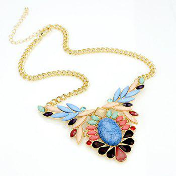 Elegant Faux Gemstone Embellished Pendant Women's Necklace - AS THE PICTURE