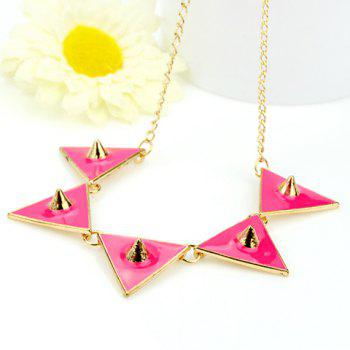Cute Candy Color Rivet Embellished Women's Necklace